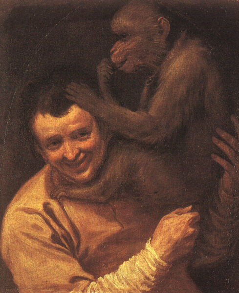 A Man With A Monkey